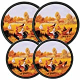 Reston-Lloyd-Electric-Stove-Burner-Covers,-Set-of-4,-Rooster