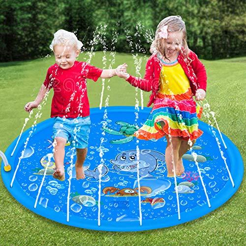 Tapete aspersor de Agua de 150cm Juguete para infantes inflable que salpica...