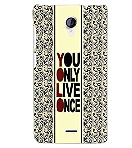 PrintDhaba Quote D-3354 Back Case Cover for MICROMAX A106 UNITE 2 (Multi-Coloured)