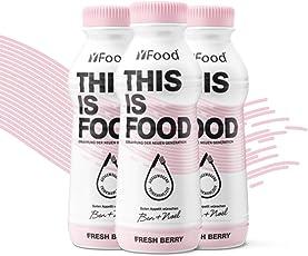 YFood Berry (12x500kcal) - Ausgewogene Trinkmahlzeit (12 Flaschen)