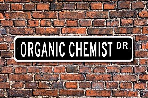 METALSIGN Metall-Zeichen-Zeichen, Bio-Apotheke mit Chemiker Apotheke Apotheke, Wissenschaftler, Labor, Street-Qualität, 4x 18cm