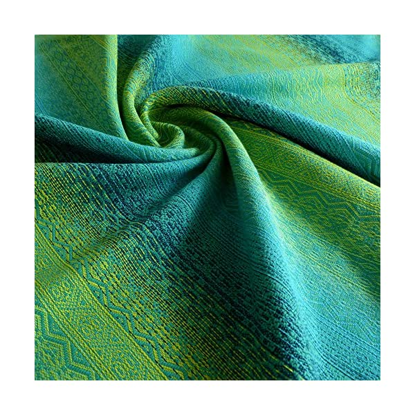 Didymos Woven Baby Wrap, Ada Malachit, Size 7, 520 cm, Green Didymos Various carrying positions, in front, sideways an on the back Special, diagonally stretchable cloth to give optimal support Holds your baby in the anatomically correct posture 6