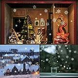 85 Fensterdeko Schneeflocken NICEXMAS Fensterbilder Schneeflocken(weiss)