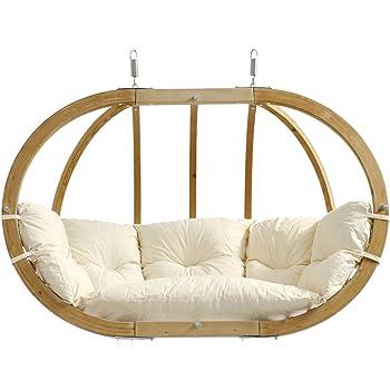 AMAZONAS Mehrpersonen Hängesessel in edlem Design Globo Royal Chair Natura bis 200 kg in Weiß