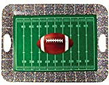 Confettery - Party Dekoration Tablett - American Football - 1 Stück, 36,8 x 50,2cm, Mehrfarbig