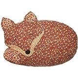 Sass & Belle Applique Sleeping Fox Cushion (With Inner)