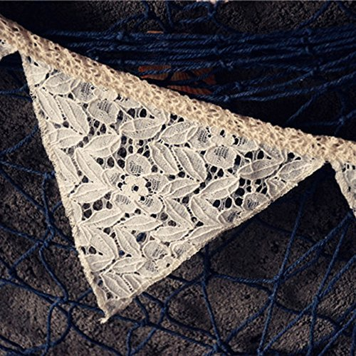 Lace Triangle Banner Cream-Coloured 8.5 Feet by Grinde NO