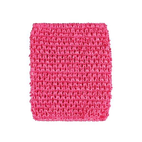 Kelis 6 Pulgadas Colores Surtidos bebé niña Crochet tutú Tubo Tops Pecho Wrap Wide Crochet Diademas Pack de 4 4
