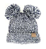 Krystle Unisex Woollen Double Pom Pom Bunny Cap For Kids Amazon