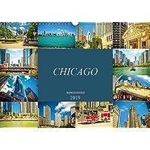 Chicago Impressionen (Wandkalender 2019 DIN A3 quer): Beeindruckende, faszinierende Impressionen von Chicago (Monatskalender, 14 Seiten ) (CALVENDO Orte)