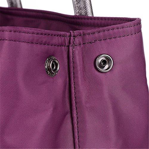 Auspicious beginning Neue Art Nylon wasserdicht Multifunktions-rote Handtasche für Frauen Lila