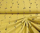 Stoffe: leichter, bedruckter Leinenstoff in gelbbeige,