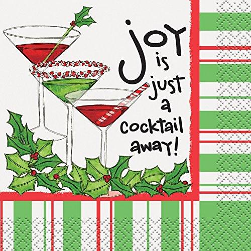 "Cocktail-Servietten, Motiv Joy Is A Cocktail Away Cocktail Away 10"" mehrfarbig"