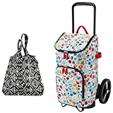 reisenthel citycruiser Rack + citycruiser Bag 45 l Einkaufstrolley - millefleurs + Mini Maxi Shopper hopi