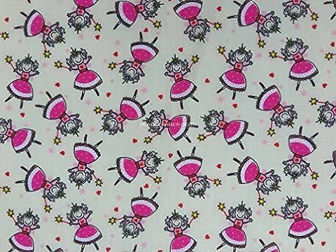 Prestige Princesse Étui imprimé poly coton tissu imprimé pour enfants Craft Tissu Robe fabrication de tissus/Craft de–par mètre
