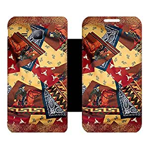 Skintice Designer Flip Cover with Vinyl wrap-around for Samsung Galaxy J1 , Design - Pattern