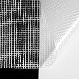 ANRO Gitterfolie Abdeckfolie Gitterplane Gewebefolie Transparent 2,0 x 2,5 m/5 m²