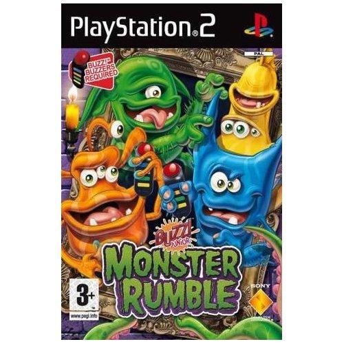Playstation 2: Buzz! Junior MONSTER RUMBLE inkl. 4x Sony Buzz! Buzzers (UK Import)