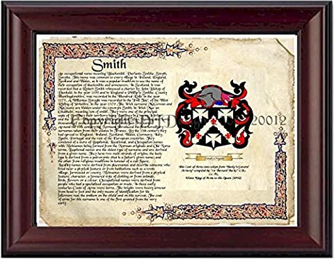 Smith Coat of Arms/ Family Crest on Fine Paper and Family History by DRFdesign