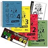 Das Ding 1+2+3+4 ( mit Noten) - der ultimative Liederbuch - Super-Megapack ! ! ! (über 1600 Songs !) im Set mit Musik-Schubert Plektrum-Card© und extra Gesamt-Inhaltsverzeichnis - alphabetisch sortiert
