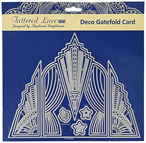 Tattered Lace DECO Gatefold Card, Silver