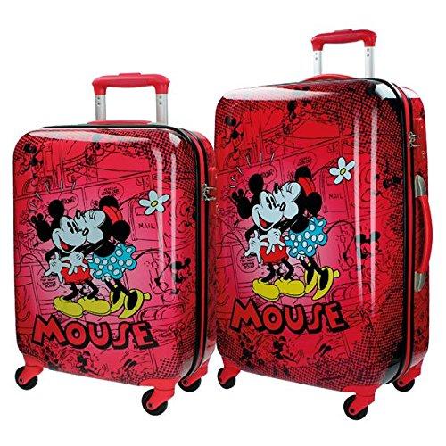 Disney Kofferset Mickey und Minnie Kindergepäck, 86 Liter, Rot