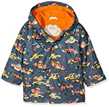 Hatley Printed Raincoat, Impermeable para Niñas, Grey (Monster Cars), 3 Años