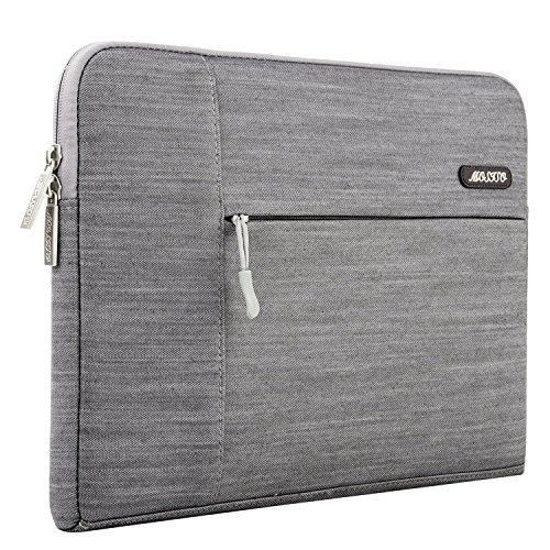 MOSISO Laptop Hülle Sleeve Denim Stoff Tasche für 13-13.3 Zoll MacBook Pro, MacBook Air, Notebook Computer, Kompatibel mit iPad Pro 12,9 Zoll, Grau