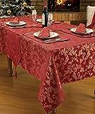 Rot Gold Tischdecke 177,8cm rund Designer Luxus bedruckt xmas/Weihnachten Heather