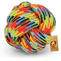 Foodie Puppies Durable Teething Cotton Rope Braided Ball Play Fetch Toy for Small to Medium Dogs Interactive Rope Toy to…