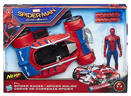 Marvel - Figura de Spiderman web city, vehículo, 15 cm (Hasbro B9703EU4)