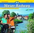 Weserradweg: Vom Weserbergland bis zur Nordsee, mit Erweiterung bis Cuxhaven Maßstab: 1:75000