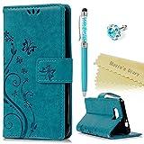Maviss Diary Alpha G850 Tasche Solide Blau PU Leder Hülle Drucken Schmetterling Blumen Weinstock Tasche Hülle Schutzh�