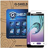 G-Shield Samsung Galaxy A5 2016 (A510F) Schutzfolie Weiß Gehärtetem Glas Vollbild/Vollständige Abdeckung Displayschutzfolie Screen Protector Folie Displayschutz Anti-Kratz Ultra Klar 9H Härte