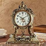 MoMo Tischuhr Antik Europäische Uhr Ruhig Wohnzimmer Uhr Nachttisch Uhr Dekorative Kreative Schaukel Uhr Antike Uhr,BBB
