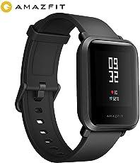Amazfit Bip Xiaomi Smartwatch Pulsmesser GPS Fitness Aktivität Tracker Schrittzähler Wasserdicht International Version Black