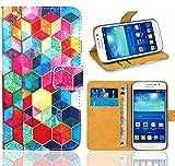 Samsung Galaxy Grand Neo Plus Funda, FoneExpert® Wallet Flip Billetera Carcasa Caso Cover Case Funda de Cuero Para Samsung Galaxy Grand Neo Plus i9060 / Galaxy Grand Neo (Pattern 2)