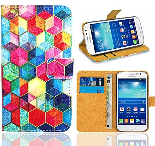 Samsung Galaxy Grand Neo / Grand Neo Plus Handy Tasche, FoneExpert® Wallet Case Flip Cover Hüllen Etui Ledertasche Lederhülle Premium Schutzhülle für Samsung Galaxy Grand Neo / Grand Neo Plus (Pattern 2)