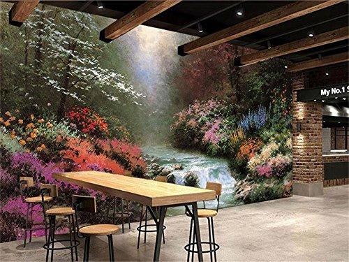 Yosot 3D Tapeten Individuelle Fototapete Wohnzimmer Wandbild 3D Thomas Landschaft Öl Malerei Sofa Tv Hintergrundbild Für 3D-Wand-450Cmx300Cm -