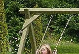 Gartenpirat Schaukelgestell Holz-Schaukel Premium 1.2 mit 2 Schaukelsitzen -