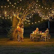 12 m de longitud 100 con energía solar LED Luz de Navidad, color (blanco cálido) para la fiesta y de la