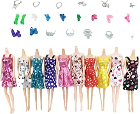 TOYMYTOY Barbie Doll Clothes and Shoes Set | Doll House Accessories - 31 PCS