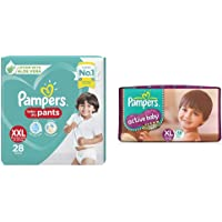 Pampers Diaper Pants, Xx-Large, 28 Count&Pampers Active Baby Diapers, Xl, 56 Count