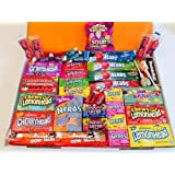 American Sweets Hamper Perfect Candy Gift includes Airheads Tootsie Wonka Laffy Taffy Nerds with 46 Items it is the best value on Amazon Perfect Gift or Present for children and adults NL1214