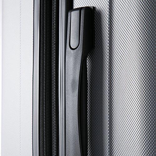 WOLTU RK4204sz-M-a Reisekoffer Koffer Trolley Hartschale mit erweiterbaren Volumen , 4 Rollen leicht Hartschale mit erweiterbaren Volumennkoffer Handgepäck , Schwarz M (56 cm & 42 Liter) - 5