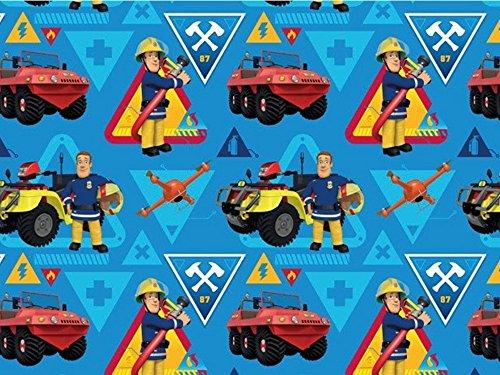 Baumwolljersey Feuerwehrmann Sam 3, Meterware ab 0,5 m/Top-Qualität/Öko-Tex 100 / Stoffe Hemmers Exklusiv