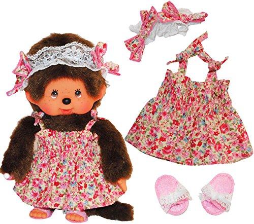 idung Monchhichi Blumen Kleid für Mädchen Kleidung Bekleidung Monchichi (Kleine Mädchen-mode-boutique)