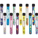 Lot de 12 bracelets pour enfants avec prénom - Pas de décoloration - Bracelet d'urgence pour enfants