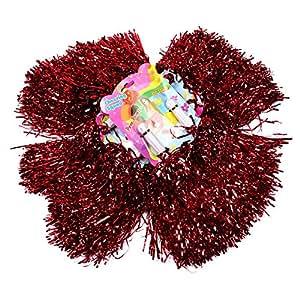 S/o® 2er Pack (1x 2) Pom Poms colore: rosso Pom Pom danza wedel danza cheerleader Puschel Puschel