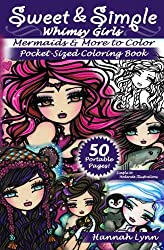 Sweet & Simple Mermaids & More to Color Pocket-Sized Coloring Book